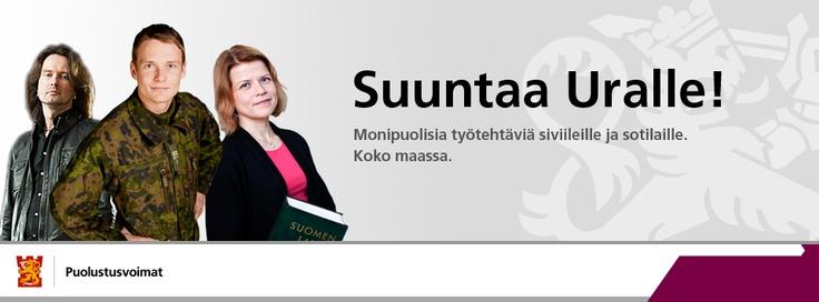Tutustu Puolustusvoimiin työnantajana: http://yritykset.monster.fi/esittelyt/puolustusvoimat?WT.mc_n=pinterest