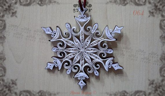Quilled Snowflake Christmas Tree Ornament Decorations