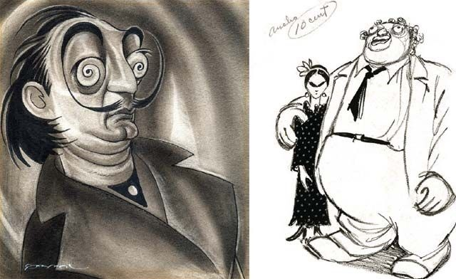 Dali.... Diego Rivera and Frida, by Cabral.