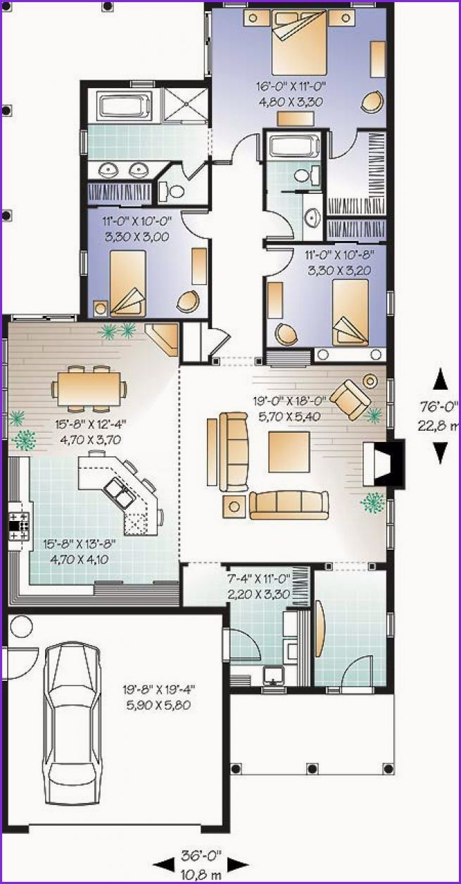 Awesome Narrow House Plans With Front Garage Narrow House Plans Narrow Lot House Plans Drummond House Plans
