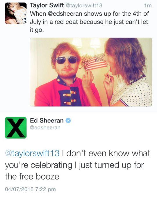 Ed Sheeran and Taylor Swift, pt.2