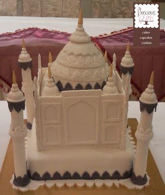 4 tier Taj Mahal Wedding Cake by Precious Gems Cakes Cupcakes Cookies. To place your order visit http://www.preciousgemscakes.com.au