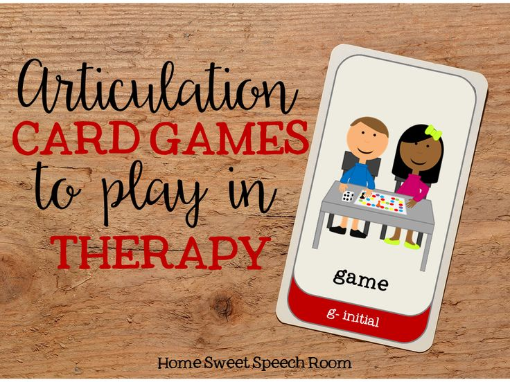 Home Sweet Speech Room : Articulation Card Games to Play in Therapy
