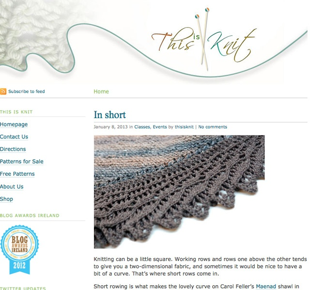 This is Knit  Finalist Best Craft Blog Category Blog Awards Ireland 2012  http://www.thisisknit.ie/blog/