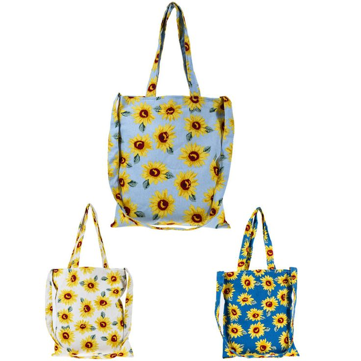 $4.61// Sun flower canvas bag// delivery: 2-6 weeks