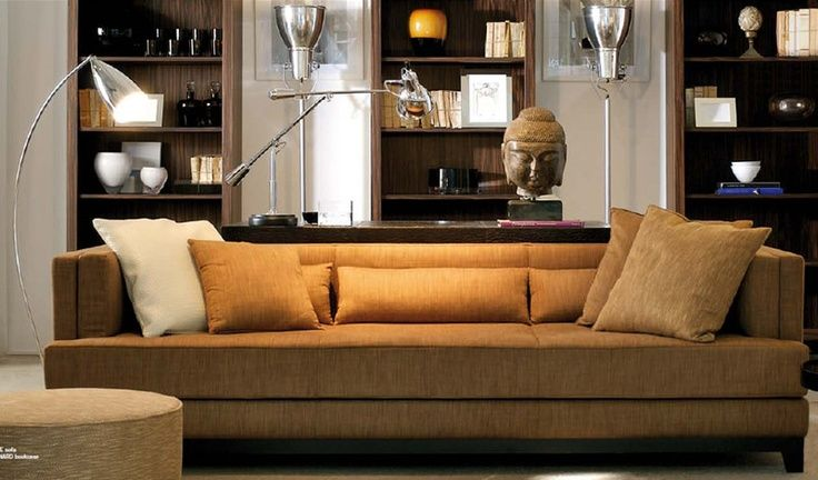 Awesome Bookcases Behind A Sofa  Home Design Elements