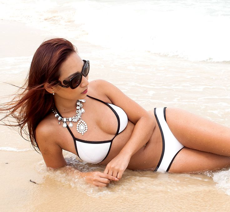 Triangl Bikini white #triangle bikini #bootyapparal