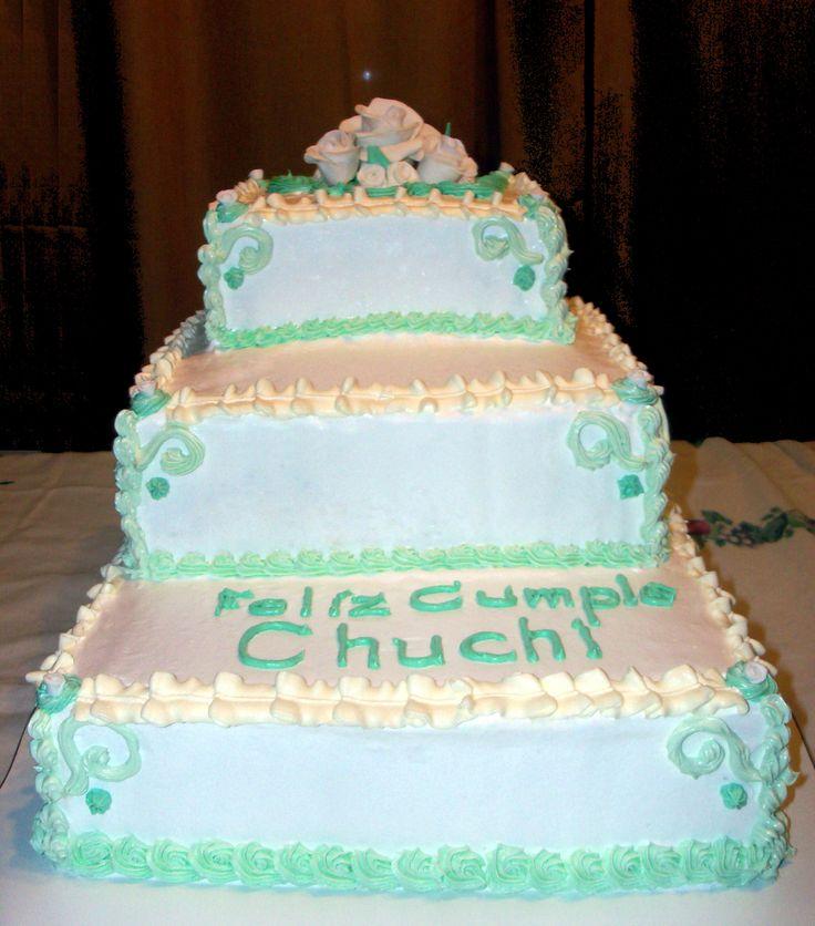Torta de Cumpleaños, decorada con Merengue italiano