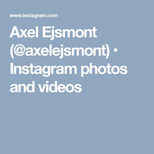 Axel Ejsmont (@axelejsmont) • Instagram photos and videos