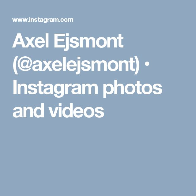 Axel Ejsmont (@axelejsmont) • Instagram photos and videos