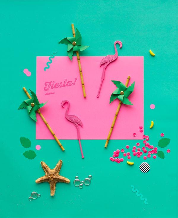 DIY Palm Tree Pinwheel Straws   Oh Happy Day!