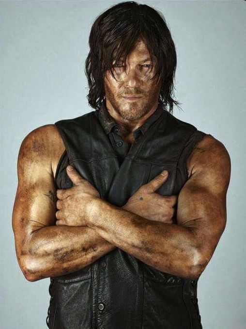 Norman was bitten in the chest by a fan last weekend at the Walker Stalker Convention.  He declined to press charges because the skin was unbroken.  The female fan was banned from future conventions.
