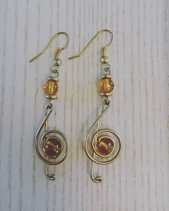 Afrocentric handcrafted earrings musical dangling earrings