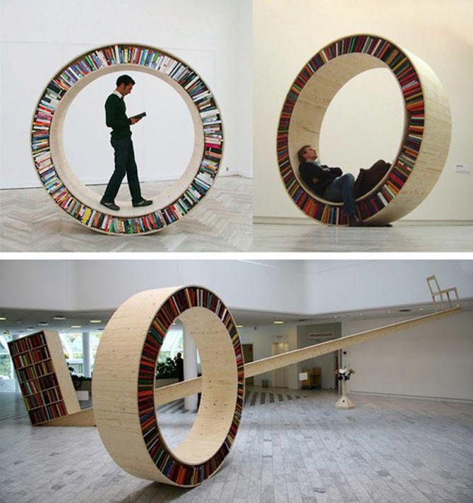 CRED magazine rack?: Circular Bookshelf, Bookshelves, Circles, Home Libraries, Personalized Spaces, Walks Bookshelf, Reading Nooks, Kids, Bookca