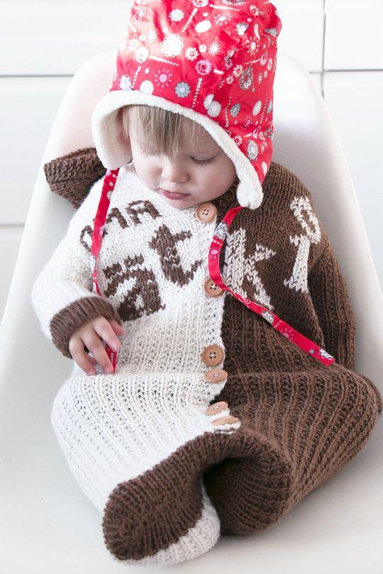 'Pätkis baby onesie' made with Novita 7 Brothers yarn #novitaknits #knitting #knit https://www.novitaknits.com/en
