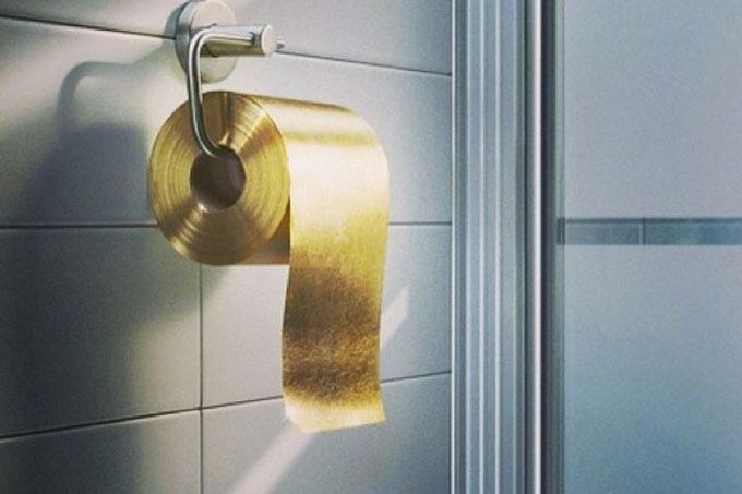 Gold Toilet Paper - the stupidest thing I've ever seen...
