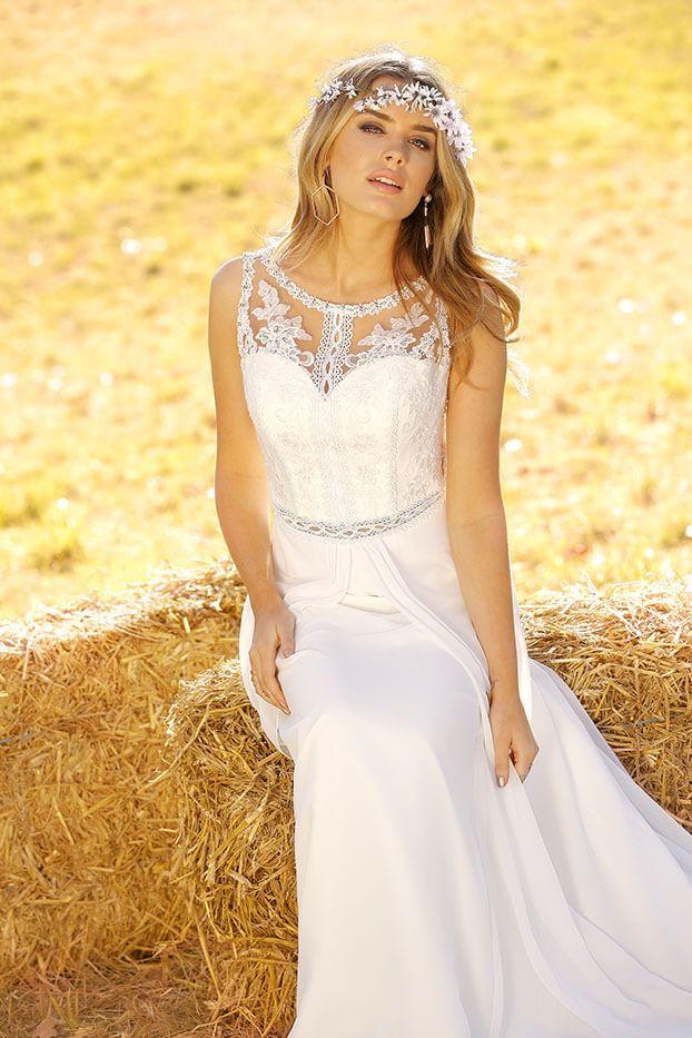 Trouwjurk Strak.Ladybird Weddingdress Bruid Trouwjurk Bohemian Dress Bruidsjurk