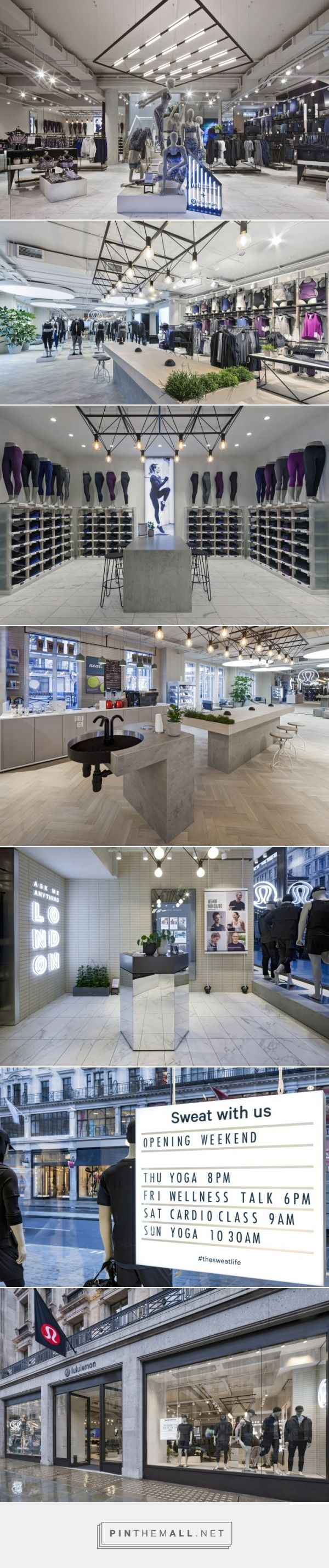 Glamshops visual merchandising & shop reviews - Lululemon store by Dalziel-Pow, London – UK - created via https://pinthemall.net