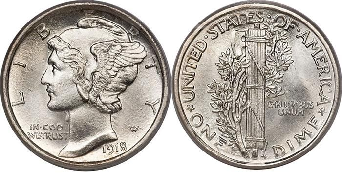 Mercury Head Silver Dime 1916-1946 Coin Guide Images Facts