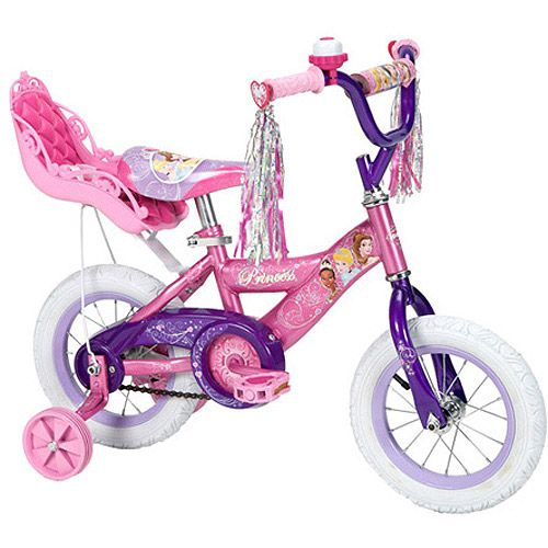 12 Quot Huffy Disney Princess Girls Bike With Doll Carrier