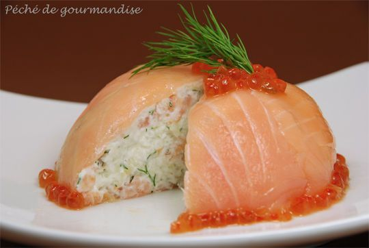 Dômes de saumon fumé au fromage frais