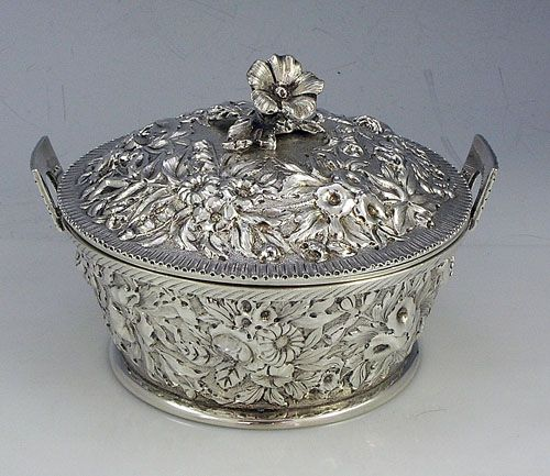 Kirk Repousse 11 ounce butter dish wish liner