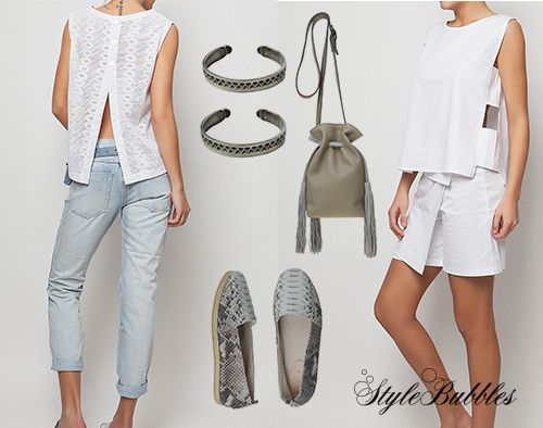 Use your sunkissed skin as the ultimate canvas and play with tones of white, grey & denim!  #StyleBubbles #denim #oneteaspoon #fashion #onlineshopping