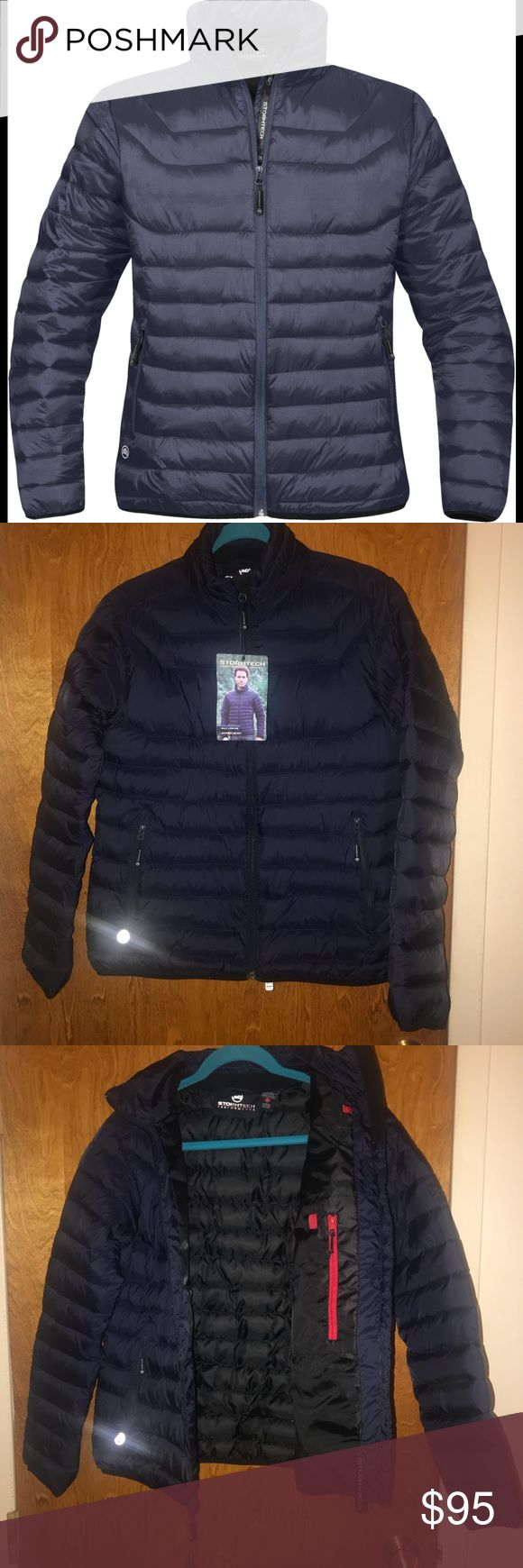 Stormtech Women's Altitude Jacket. Size M Size medium. Navy blue. Ultra lightweight and designed to keep the cold weather out, this polyfill jacket offers superior thermal properties, while it's quilted baffles stabilize the fill to maintain consistent warmth.   Water resistant Articulated sleeves Internal full length storm flap Internal media pocket with audio port 100% Nylon micro ripstop Good for temps +10*C to -10*C stormtech Jackets & Coats Puffers