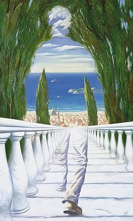 descent to the mediterranean by KUSH ... love this artist the paintings are absolutely stunning