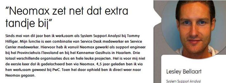 Lesley vertelt over 3xBLIJ bij neomax; http://neomax.nl/3xblij/neomax-zet-net-dat-extra-tandje-bij/