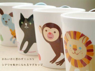 Japanese mugs: sooo cute.