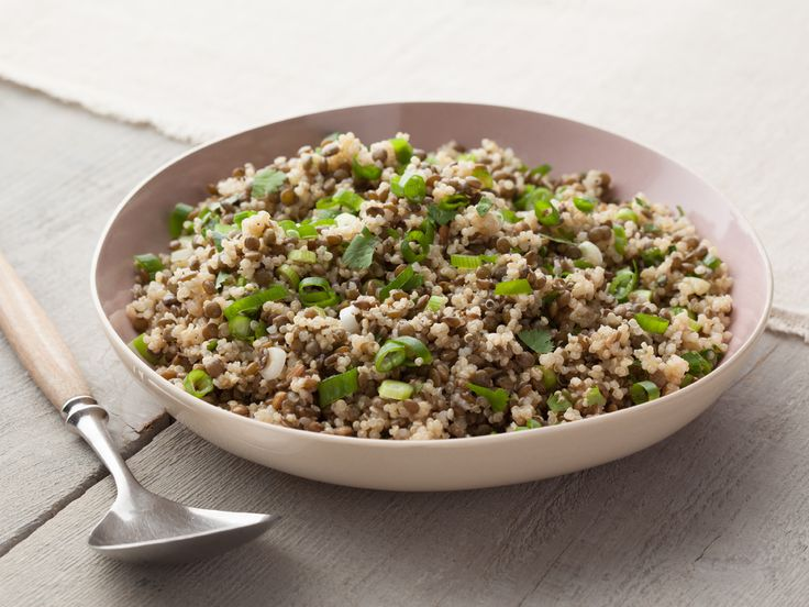 Lentil Quinoa Salad recipe from Melissa d'Arabian via Food Network