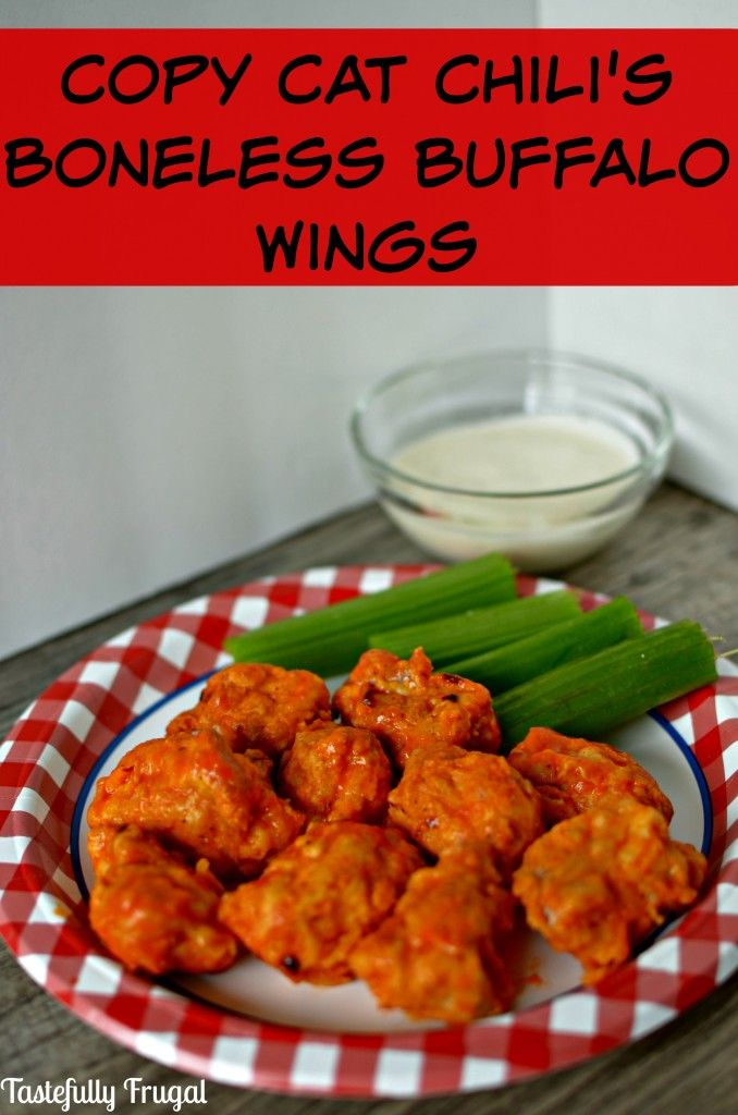 Copy Cat Chili's Boneless Buffalo Wings {and Air Fryer 100 Review}