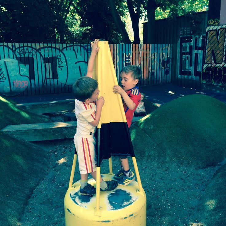 My twin Boys at the LocalTalk playgrund