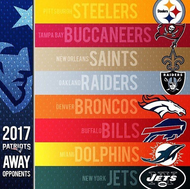 Patriots 2017 Away Opponents