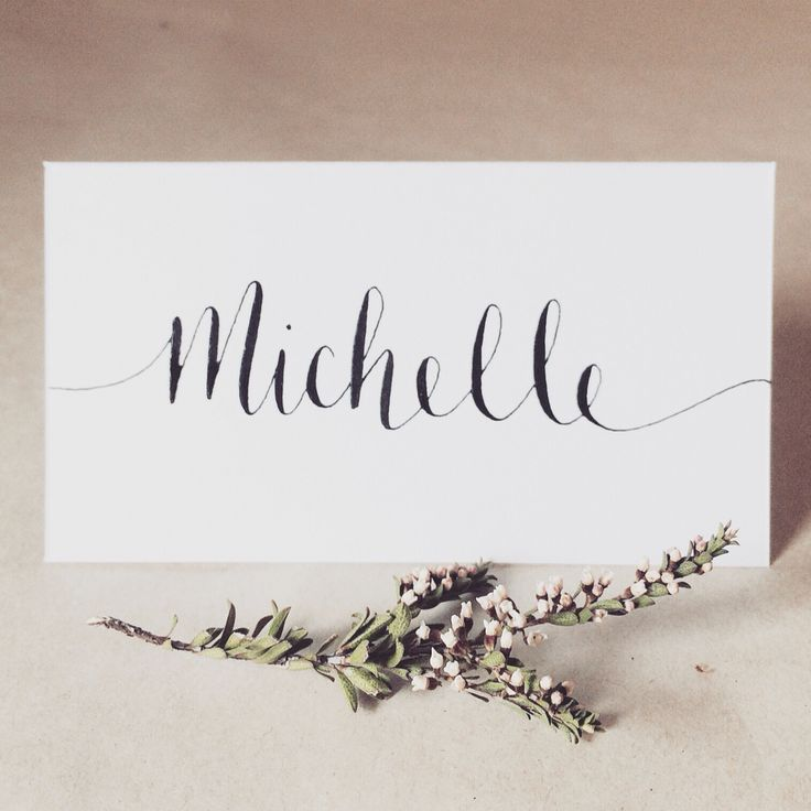 Wedding place card. Table decor, calligraphy