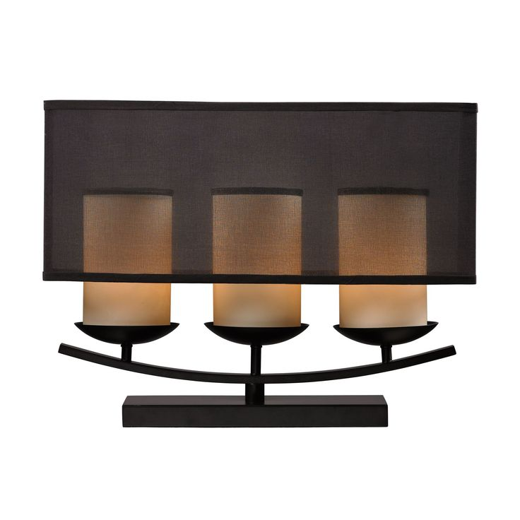 Bakersfield 3 Light Candle Lamp In Bronze Paint Finish Bronze Paint
