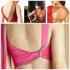 Modern Sri Lankan Saree Blouse Designs: Blouse Back Neck Designs