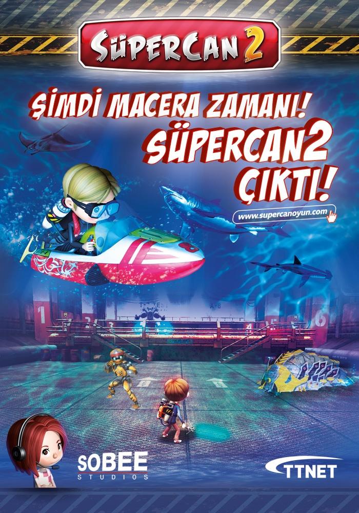 """SOBEE Studios tarafından geliştirilen ve kısa sürede milyonlarca oyunseverin gönlünde taht kuran Türkiye'nin ilk çocuk kahramanı """"SüperCan"""", www.supercanoyun.com sitesinden ücretsiz olarak indirebilir. Oyunun ücretsiz olan ilk bölümünü oynayıp tamamlayan oyuncular, birbirinden eğlenceli diğer bölümlere ise Playstore'dan satın alabilecekleri """"SüperCan 2""""nin pin kodu ile ulaşabiliyorlar."""