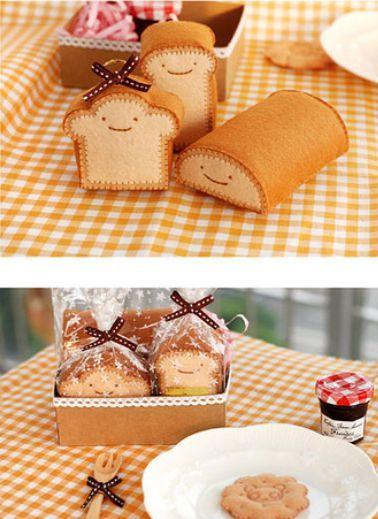 so cute felt bread