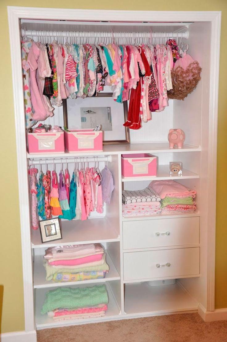 25 melhores ideias sobre guarda roupa de meninas no - Armarios de bebes ...