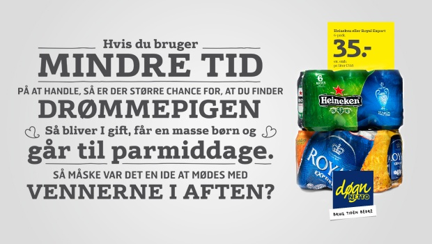 Outdoor advertisement for døgnNetto