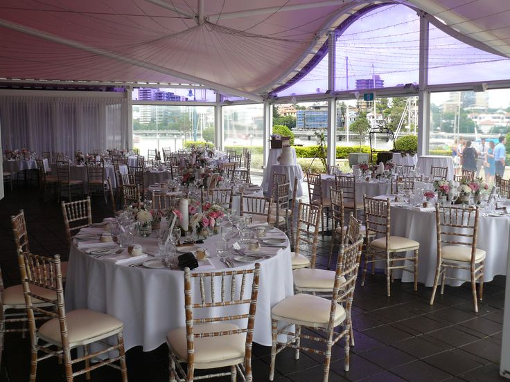 One of the wedding reception rooms at The Landing at Dockside Brisbane Celebrant Neal Foster The Marriage Celebrant performs weddings here.