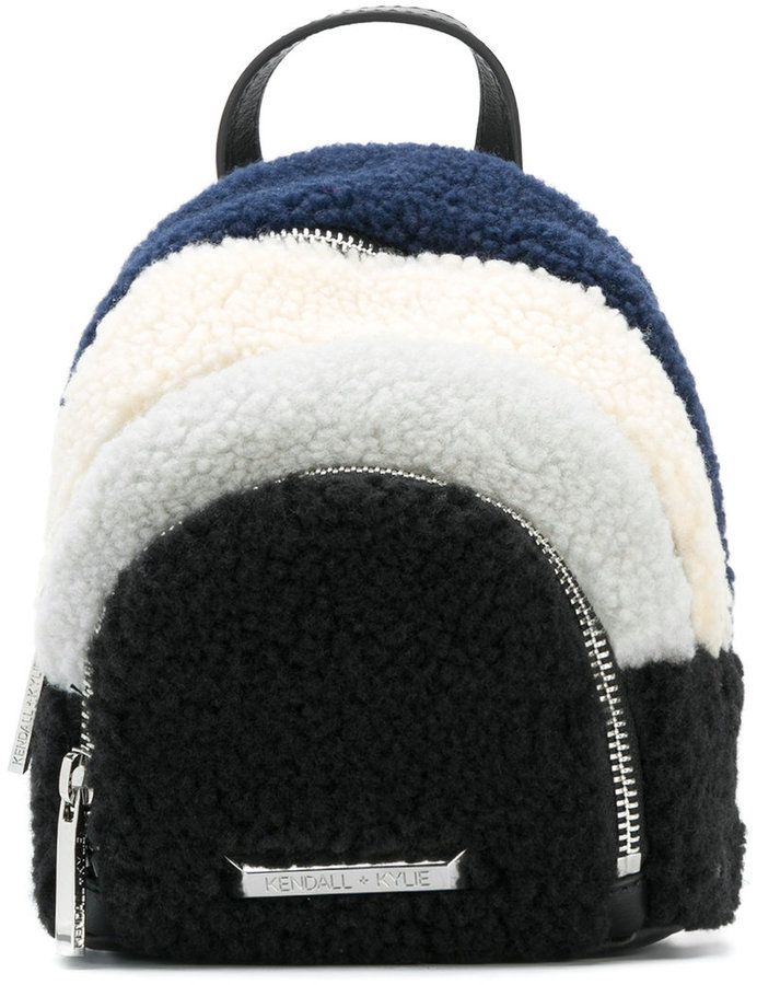 KENDALL + KYLIE Kendall+Kylie faux shearling small backpack