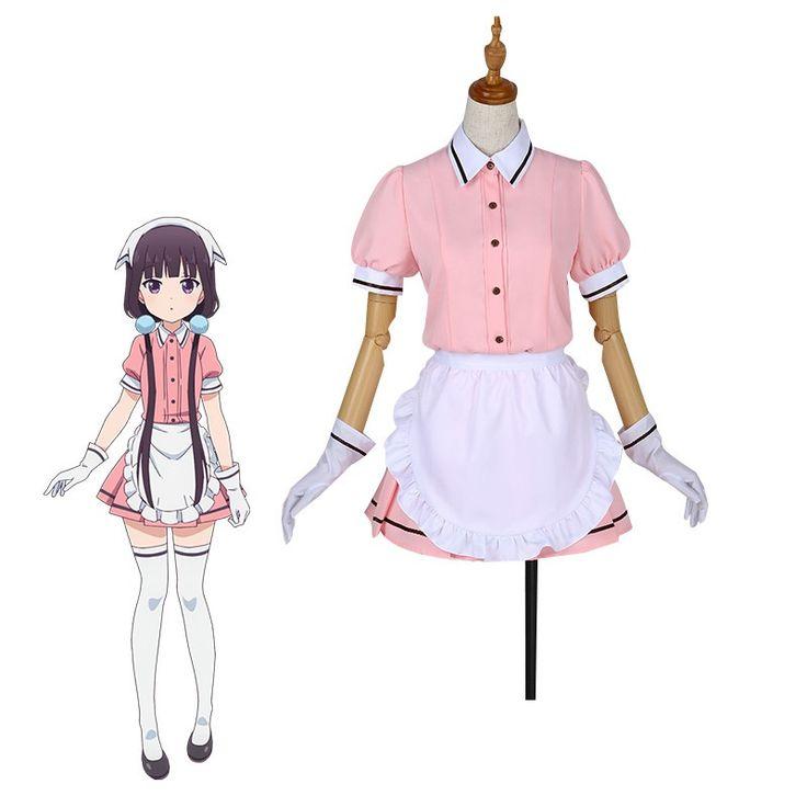 ROLECOS 5 Colors Blend S Cosplay Costume Maika Sakuranomiya Cosplay Stile Cafe Sadistic Anime Maid Costume Women Uniform Dress