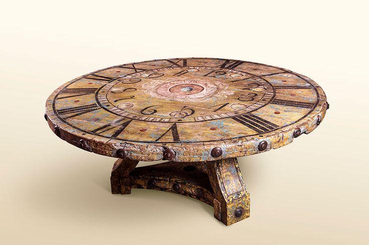Gregorio Clock Table H 32 in. x W 59 in. x D 59 in.