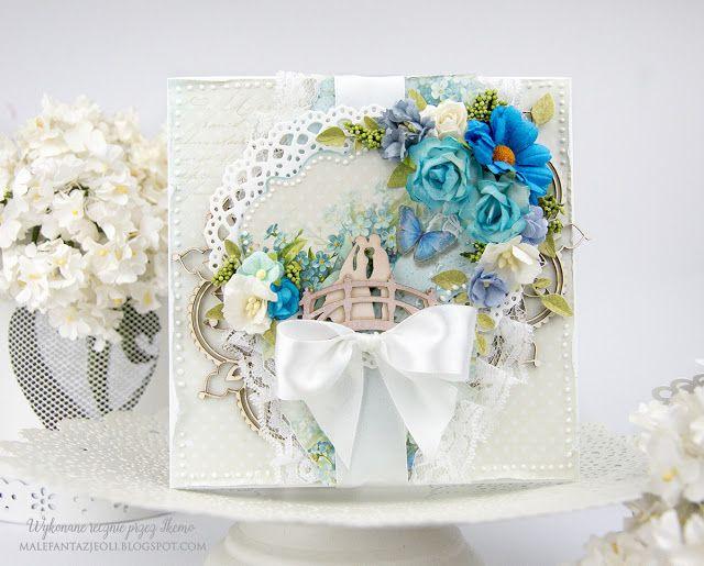 Male fantazje Oli: DT Fabrika 212 - Ślubna kartka / Wedding card
