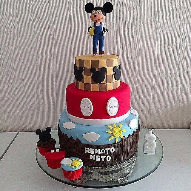 Mickey Mouse Themed Tiered Fondant Cake!  awesome #cakestotaste from: @cupcakesdabianca    cake lover? dont forget to follow us!!   via #cakeguide #cakemenu #kue #kueenak #kuelucu #kueonline #indonesiaphotographers #cake #cakes #cakeart #cakedesign