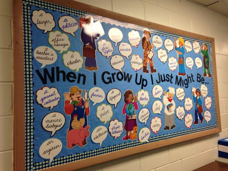 Bulletin Board For Career Day Social Studies Community