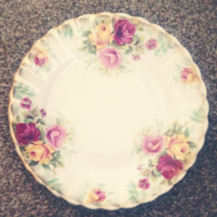 Floral plate.